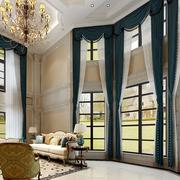 欧式风格高挑客厅飘窗窗帘装饰