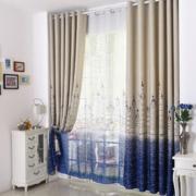 欧式风格简约拼色窗帘装饰