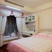 韩式田园卧室印花飘窗装饰