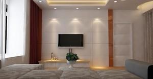 大户型客厅电视背景墙隐形门装修效果图