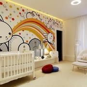 美式简约风格儿童房背景墙装饰