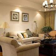 欧式复式楼客厅沙发装饰