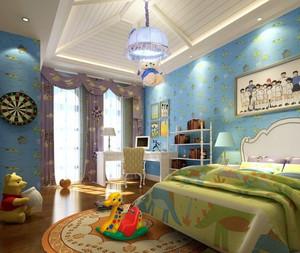 地中海简约儿童房背景墙装饰