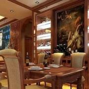 东南亚风格深色系客厅酒柜装饰
