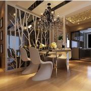 欧式风格简约餐厅镜饰背景墙