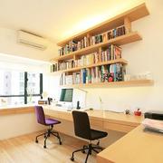 暖色调书房整体图