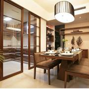 美式简约风格原木厨房推拉门装饰