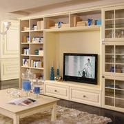 现代风格整体式电视柜装饰