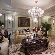 法式风格简约客厅吊顶装饰