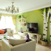 地中海清新风格客厅背景墙装饰