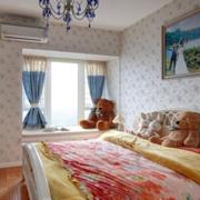 现代田园风格卧室飘窗装饰