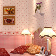 欧式简约风格儿童房粉色系墙饰装饰