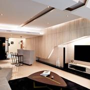 两室一厅后现代风格客厅吊顶装饰