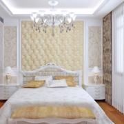 欧式简约风格浅色卧室飘窗装饰