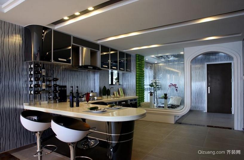 开放式厨房吧台装修效果图片集锦