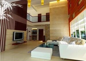 大户型精美楼中楼客厅装修效果图