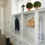 欧式简约风格整体式鞋柜设计