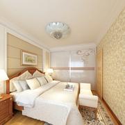 三室一厅简约风格卧室床饰装饰