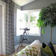 简约风格复式楼客厅窗户装饰