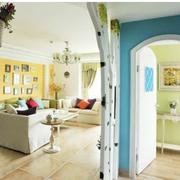 多色调客厅整体设计
