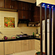 现代简约风格整体式厨房装饰