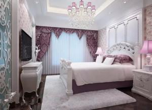 韩式风格清新卧室飘窗装饰