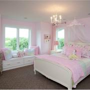欧式粉色系简约飘窗装饰