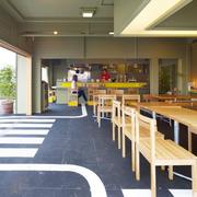 咖啡店吊顶背景墙淡色款
