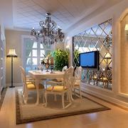 欧式风格餐厅电视背景墙装饰