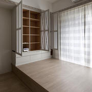 韩式清新简约木制地台装饰