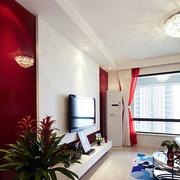 现代简约风格白色系电视背景墙装饰