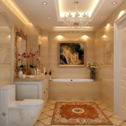 美式混搭卫生间洗手台