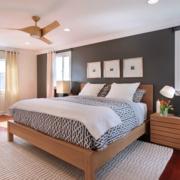 现代简约风格卧室床头背景墙装饰