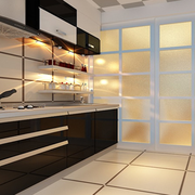 后现代风格厨房推拉门装饰