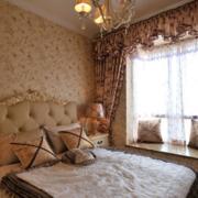 欧式风格卧室奢华飘窗装饰