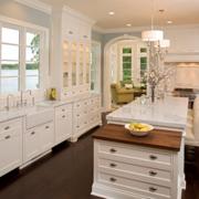 美式简约风格开放式厨房装饰