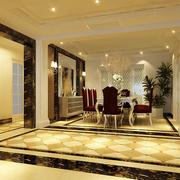 欧式跃层复式楼客厅