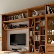 日式风格原木浅色电视柜设计