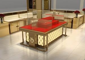 现代展柜设计图