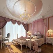 三室一厅圆形灯饰吊顶装饰