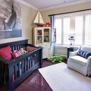 美式风格深色系儿童房装饰