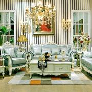 法式奢华风格客厅餐厅吊顶装饰