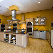 美式混搭风格开放式厨房装饰