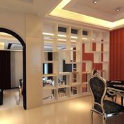 法式风格餐厅隔断装饰