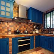 地中海简约拼色厨房瓷砖装饰