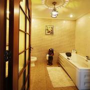 欧式风格暖色系卫生间吊顶装饰