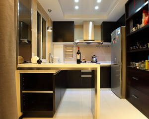 后现代风格厨房吧台装饰
