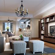 现代简约风格客厅电视墙装饰