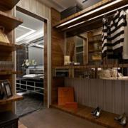 美式简约风格衣帽间置物柜装饰