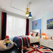 美式简约风格儿童房飘窗装饰